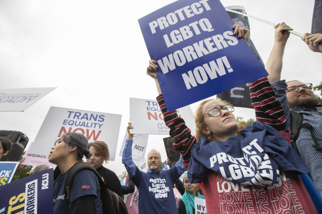 LGBTQ workers protest