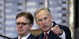 Dan Patrick and Greg Abbott
