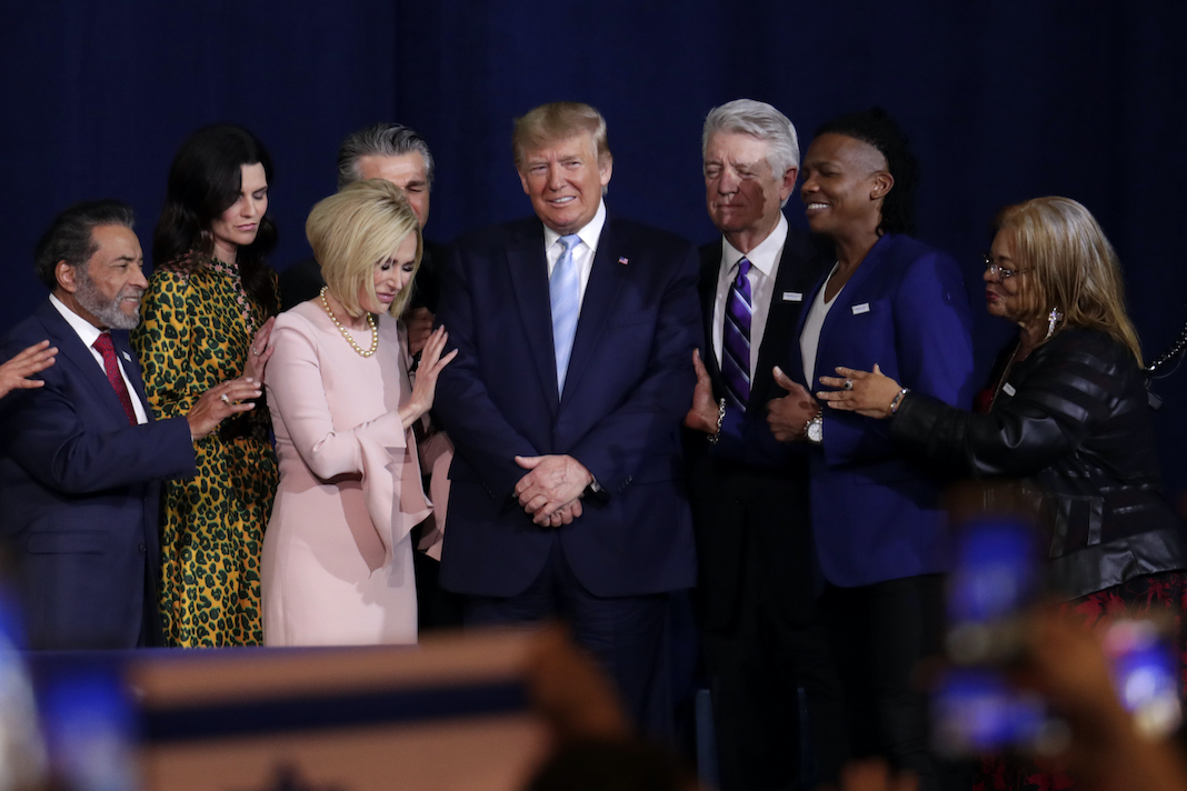 Donald Trump, Paula White, and other pastors