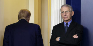 Trump criticizes Fauci and says US is in a 'good place.'