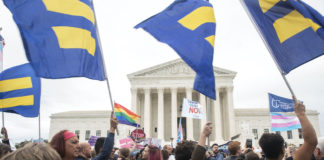 Supreme Court LGBTQ rally