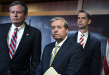 Republican Sens. Steve Daines, Lindsey Graham, and Tom Cotton