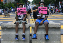 Young protesters against racial injustice