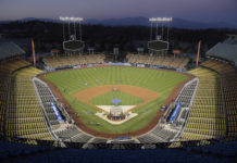 Dodger Stadium-Voting Center Baseball