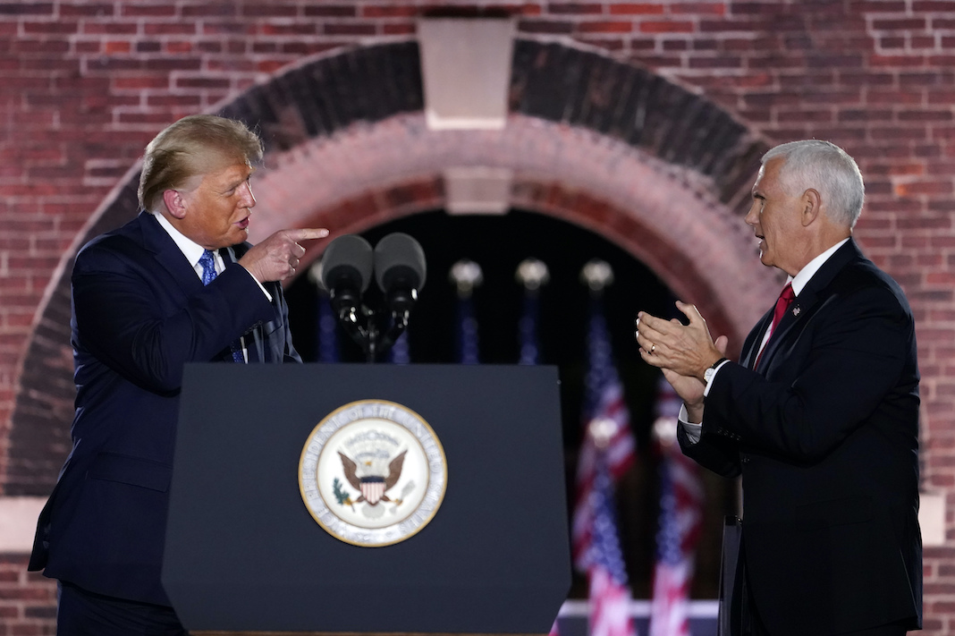 Donald Trump and Mike Pence at RNC 2020