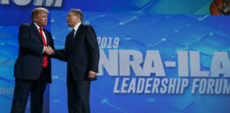 Donald Trump and Wayne LaPierre of the NRA
