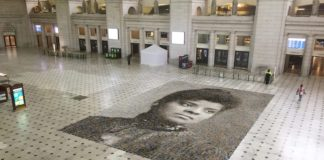 Mural of Ida B. Wells at Union Station, Washington, D.C.