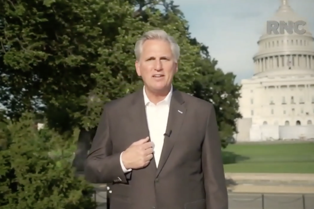 GOP convention starts with an ad 'paid for by McCarthy for ...