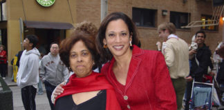Shyamala Gopalan and her daughter Kamala Harris