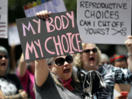 Abortion rights demonstration in Texas.