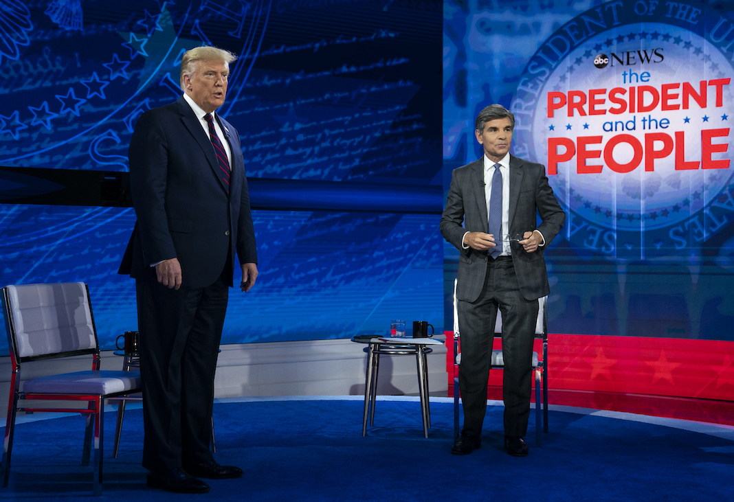 Donald Trump with TV host George Stephanopoulos