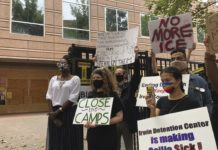U.S. immigration detention protest