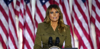 Melania Trump speaking at Republican National Convention