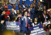 Kevin Stitt at Trump rally in Tulsa