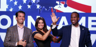 Donald Trump Jr., Kimberly Guilfoyle, and John James