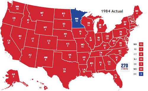 1984 election map
