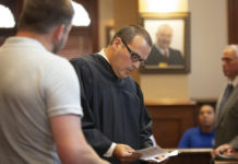 A judge with a prospective juror