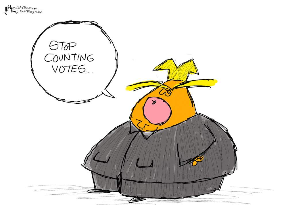 Cartoon: Stop counting votes