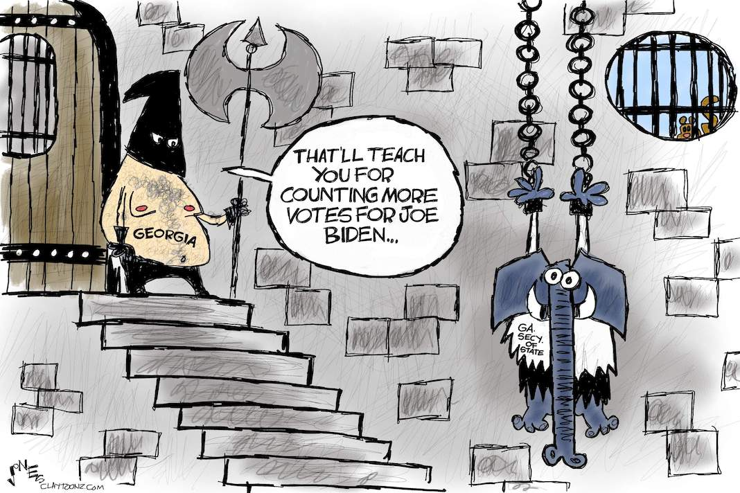 Cartoon: Hanging on a vote count