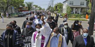 Clergy marching for racial justice