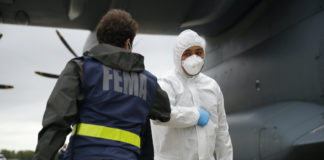 Worker in FEMA Jacket