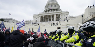 Donald Trump supporters rioting at US Capitol