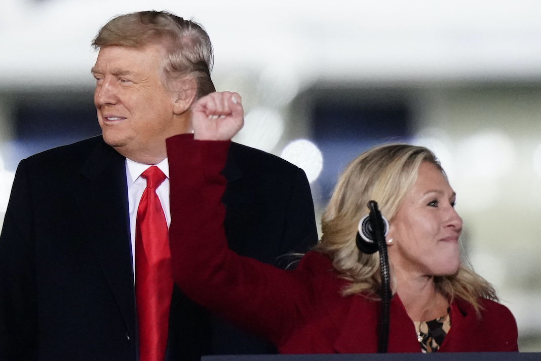 Donald Trump and Marjorie Taylor Greene