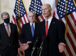 Sen. Rick Scott with Senate Majority Leader Mitch McConnell