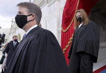 Supreme Court Justices Brett Kavanaugh and Amy Coney Barrett