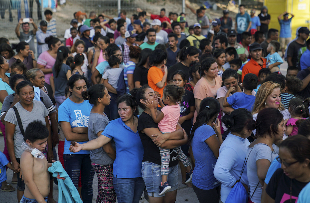 Migrants waiting in Mexico