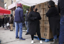 Sunnyside, New York, food pantry volunteers