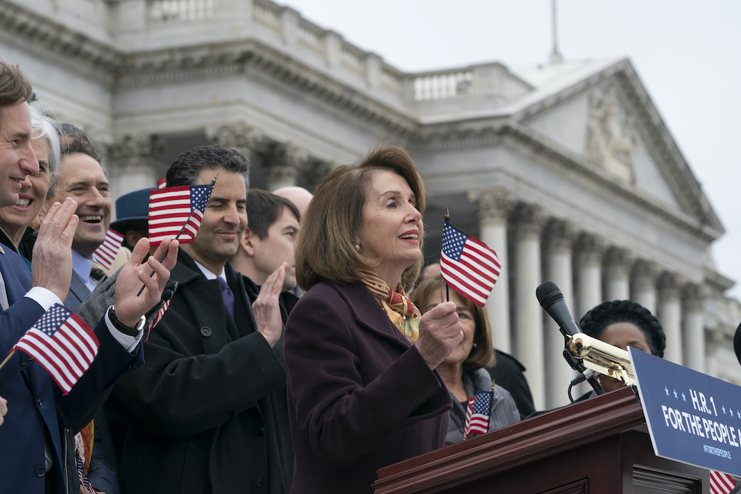 Nancy Pelosi, John Sarbanes and House Democrats