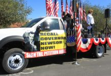 Recall Gavin Newsom Rally