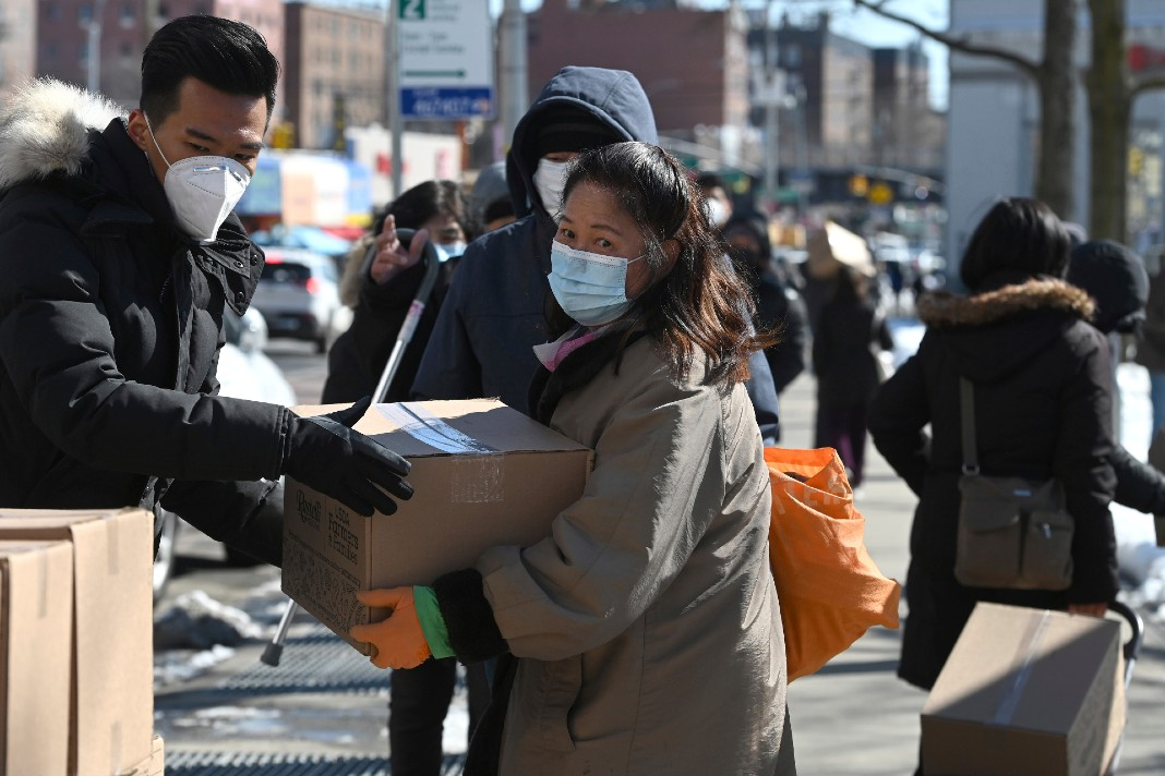 Asian American woman, food assistance, poverty, pandemic