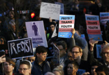 Rally in support of transgender youth