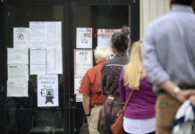 Voters line up in Little Rock, Arkansas