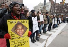 Tamir Rice protest, police brutality, racism