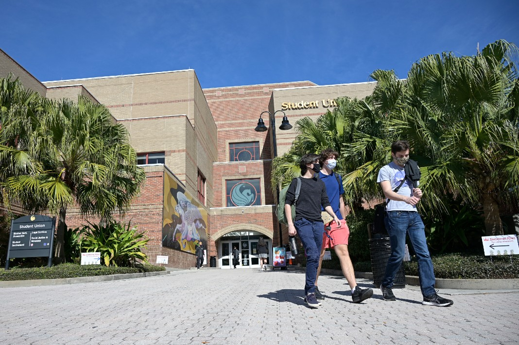 University of Central Florida campus, students
