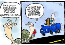 Cartoon: McTortoise obstruction