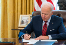 Joe Biden signing orders