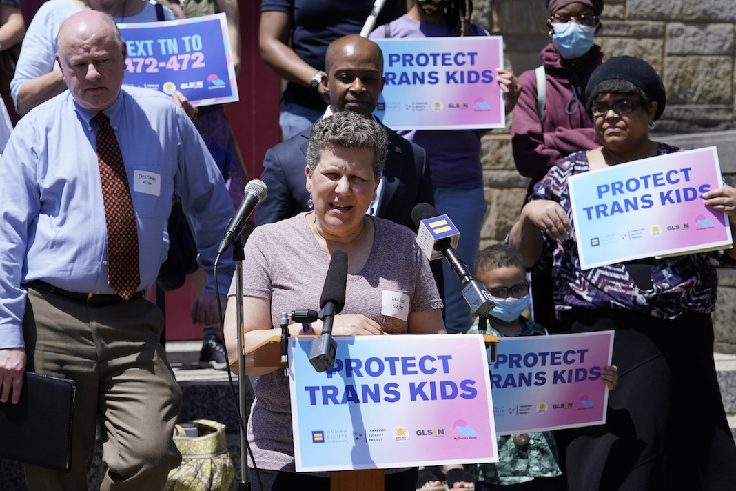 Protect Trans Kids rally