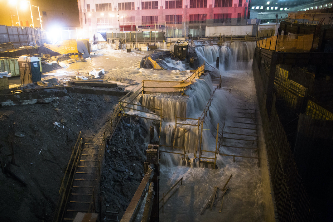 World Trade Center site flooded by Sandy