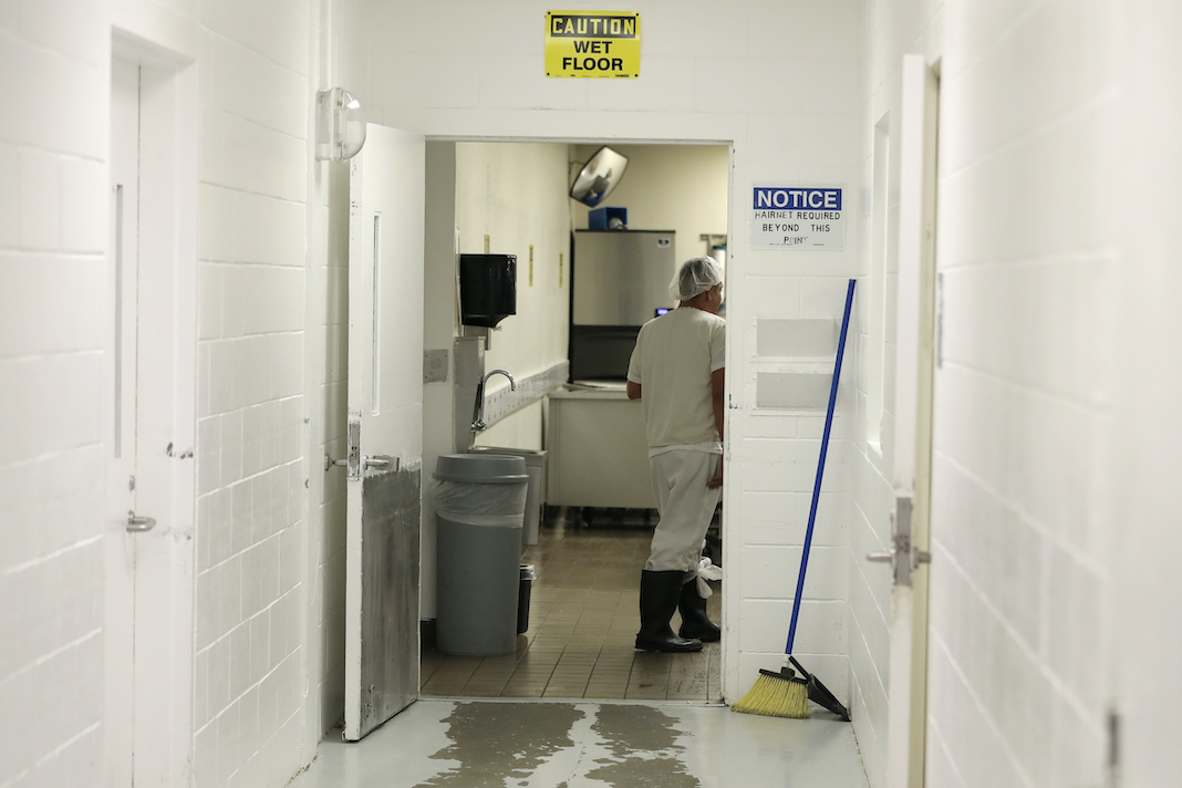 Immigrant detainee working