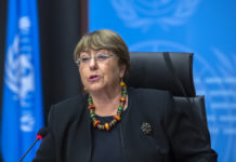 Michelle Bachelet, UN High Commissioner for Human Rights