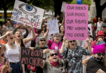 Abortion protest in Austin, Texas