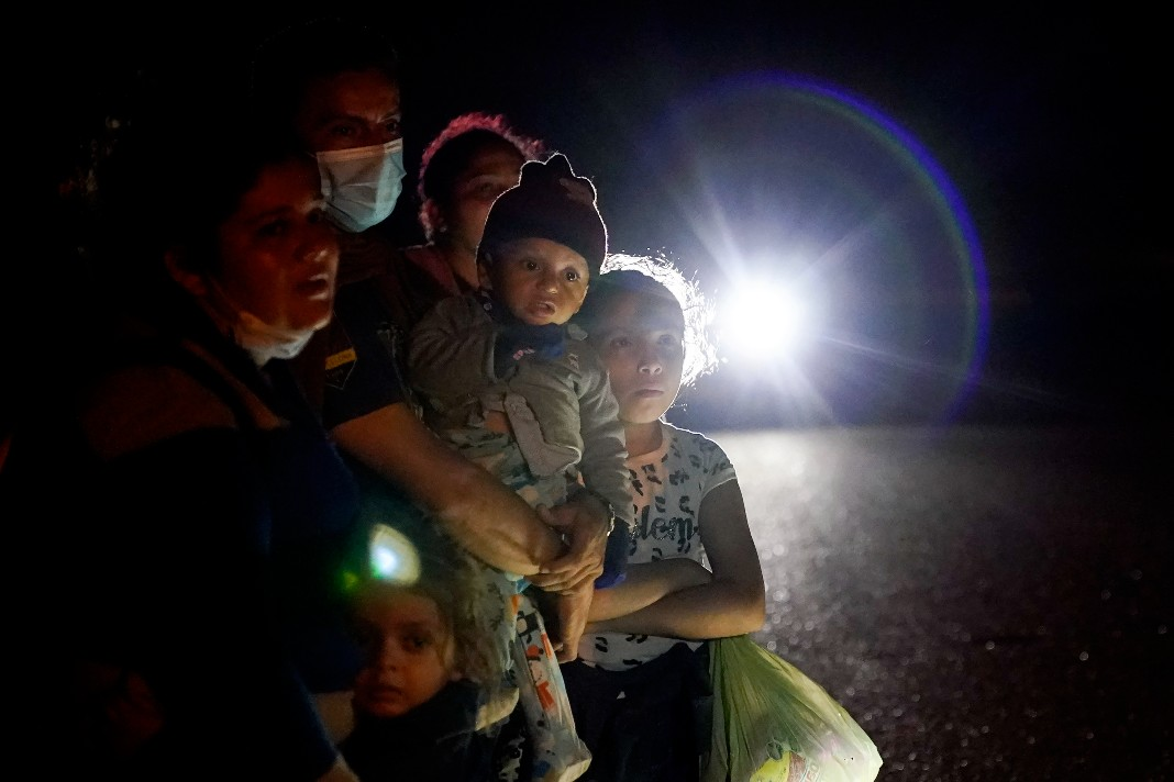 Immigrant families, asylum seekers, Mexico