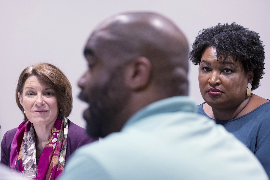 Sen. Amy Klobuchar (D-MN) and former Georgia State Rep. Stacey Abrams