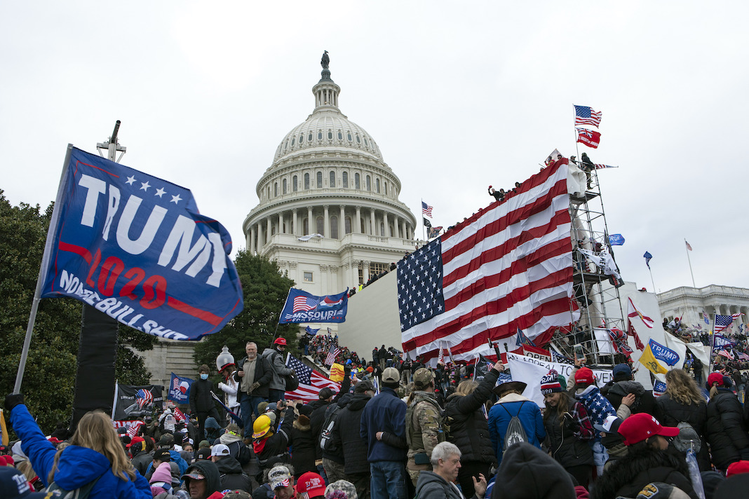 Rioters at US Capitol