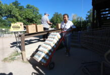 Food drive in New Mexico