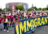 Immigrants and supporters march